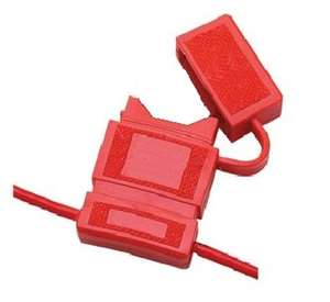 Fuse Holder With Cover, ATC, 10AWG Wire