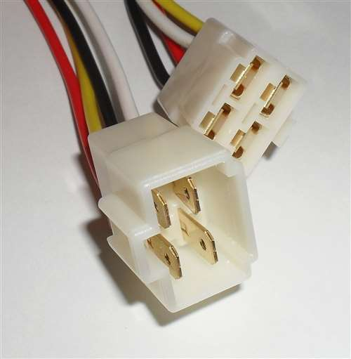 4 Pin Quick Disconnect Pigtail, 0.250 Terminals, 18AWG, 12