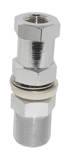 SO239 Stud Antenna Mount, Dual Hex nut, 3/8 x 24 pitch thread