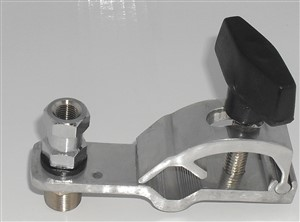 "Quick Release Clamp on Antenna Mount with SO239 to Stud 3/8""x24 thread"