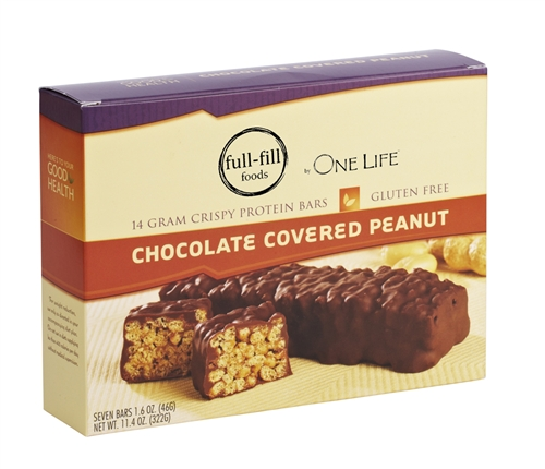 Crispy Chocolate Covered Peanut Protein Bar