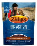 Zukes Dog Hip Action Peanut Butter 6Oz