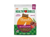 Nylabone Healthy Edibles Biscuits Dog Treats Beef & Veggie 12oz