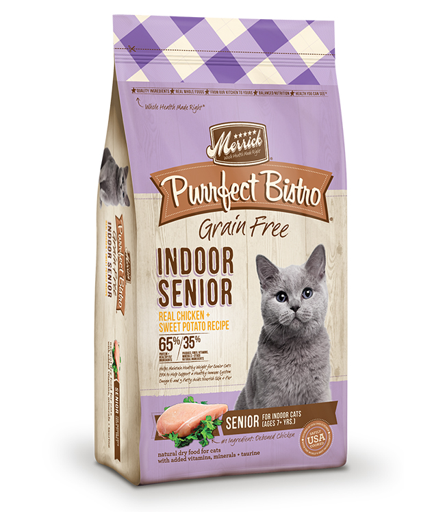 Merrick Purrfect Bistro Indoor Senior Recipe 4LB