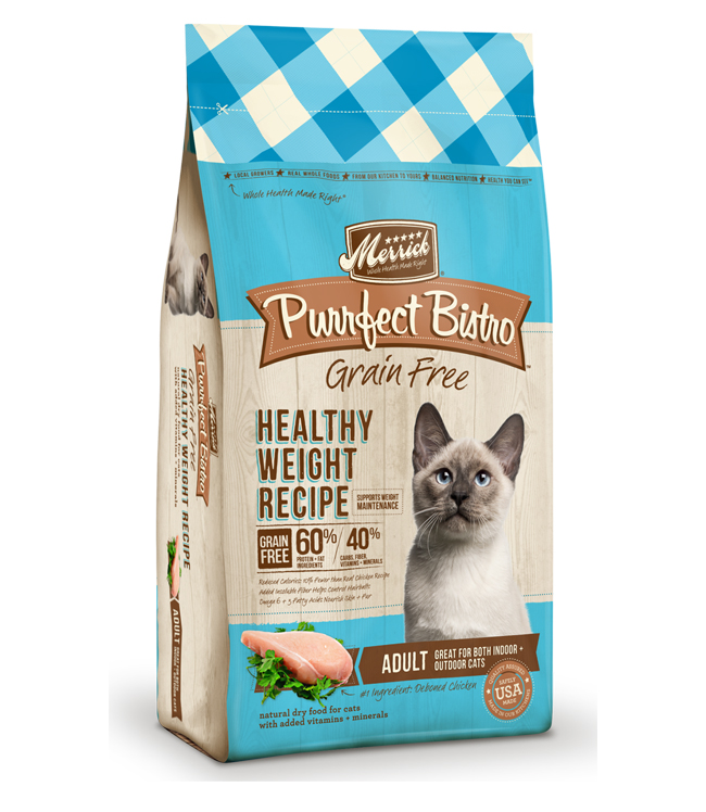 Merrick Purrfect Bistro Grain Free Healthy Weight Recipe 4LB