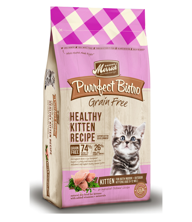 Merrick Purrfect Bistro Grain Free Healthy Kitten Recipe 7LB