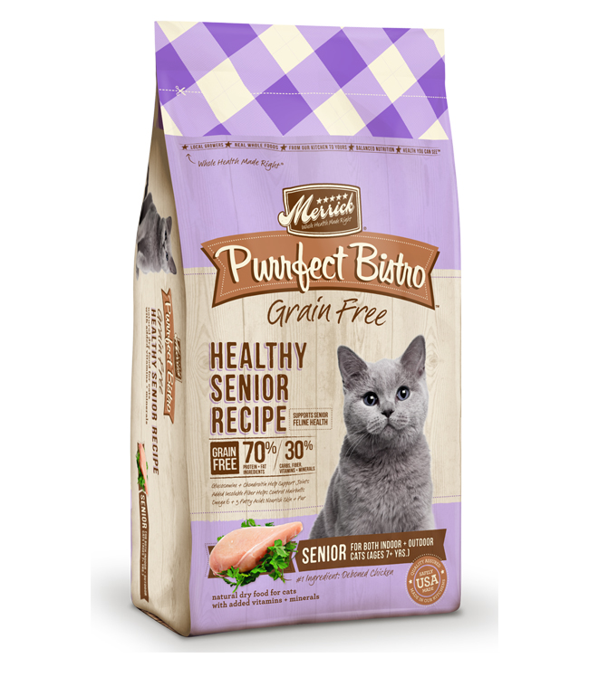 Merrick Purrfect Bistro Grain Free Healthy Senior Recipe 7LB