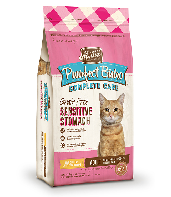 Merrick Purrfect Bistro Complete Care Sensitive Stomach Recipe 12Lb