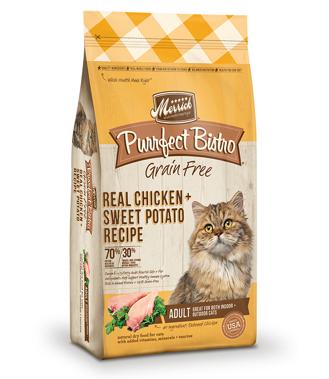 Merrick Purrfect Bistro Grain Free Real Chicken and Sweet Potato Recipe 7LB