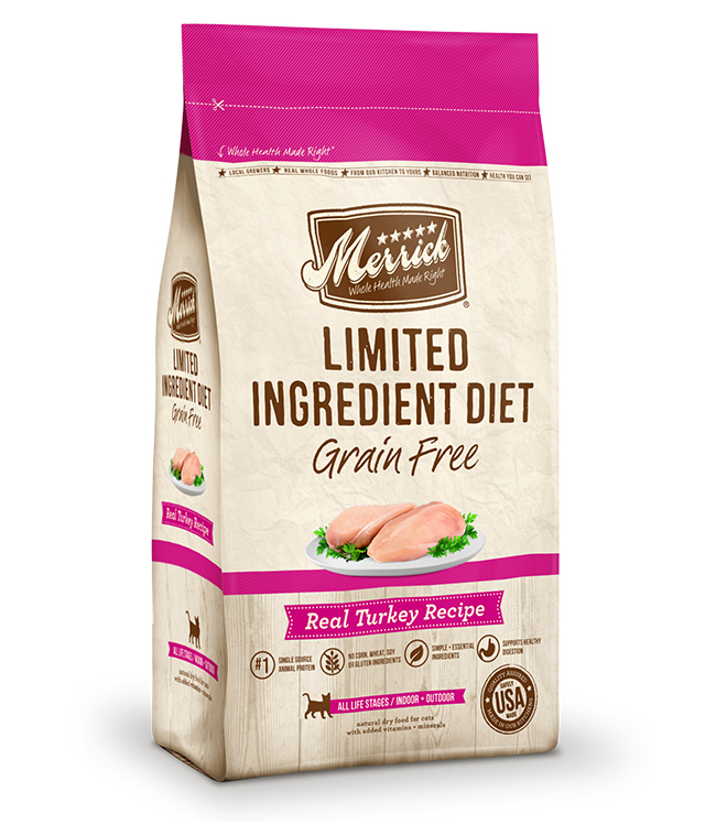 Merrick Limited Ingredient Diet Grain Free Real Turkey Recipe 7LB