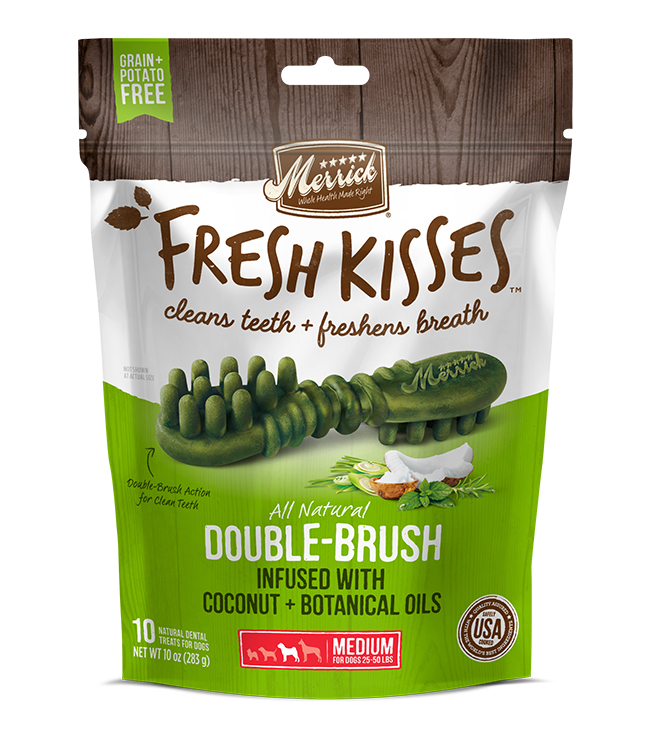 Merrick Fresh Kisses Coconut Oil For Medium Dogs (30-70 lbs) 12OZ