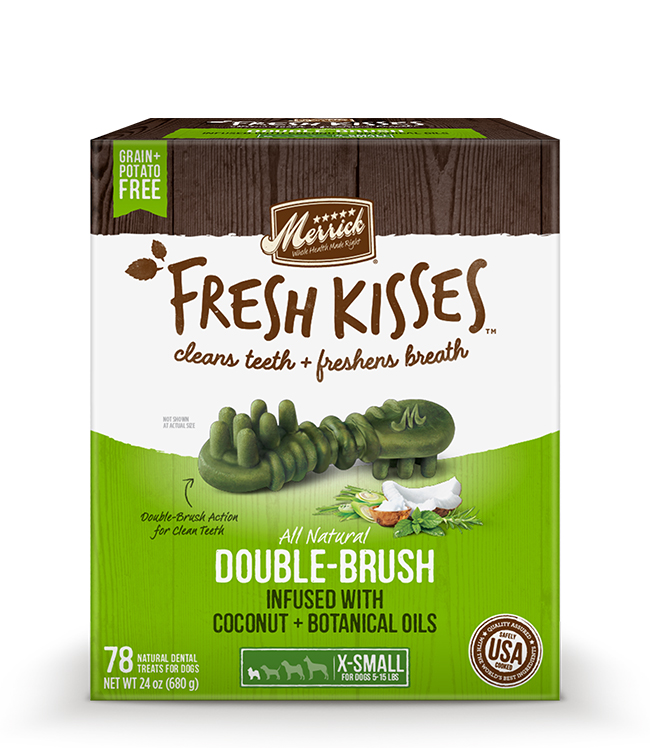Merrick Fresh Kisses Coconut Oil For Extra Small Dogs (7-17 lbs) 24OZ