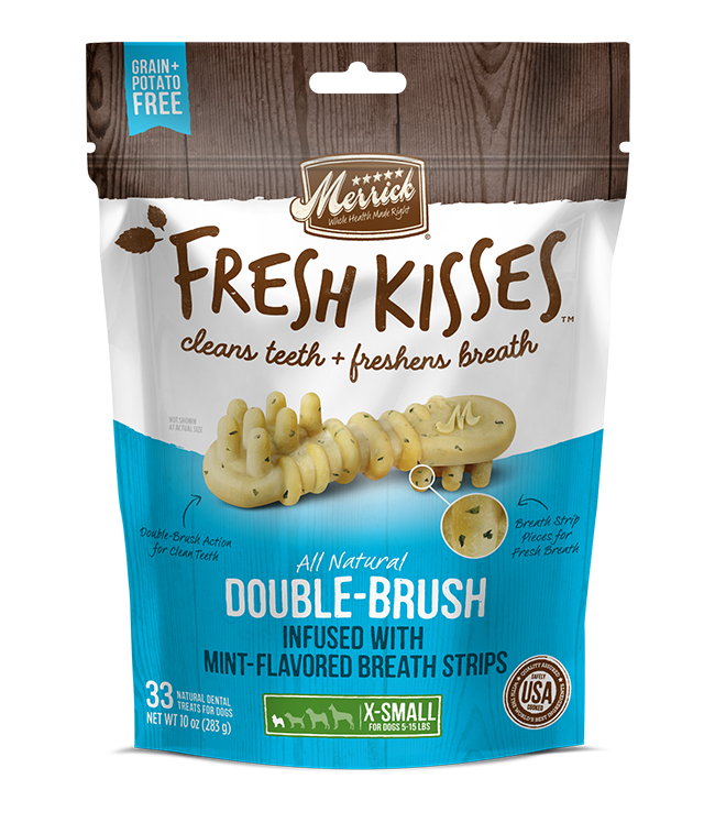 Merrick Fresh Kisses Mint Breath Strips For Extra Small Dogs (7-17 lbs) 12OZ