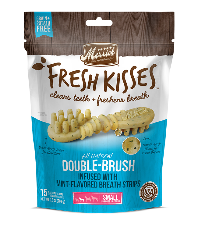 Merrick Fresh Kisses Mint Breath Strips For Small Dogs (17-30 lbs) 9.7OZ