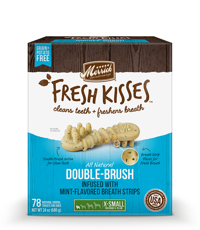 Merrick Fresh Kisses Mint Breath Strips For Extra Small Dogs (7-17 lbs) 24OZ