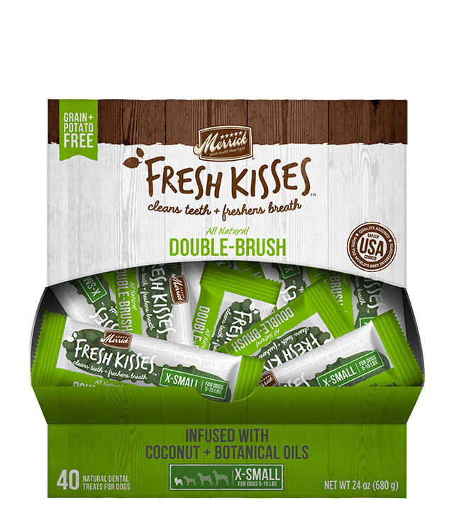 Merrick Fresh Kisses Coconut Oil Singles For Extra Small Dogs (7-17 Lbs)