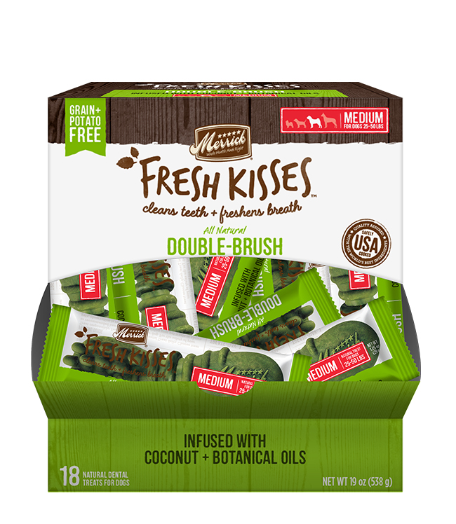 Merrick Fresh Kisses Coconut Oil Singles For Medium Dogs (30-70 Lbs)