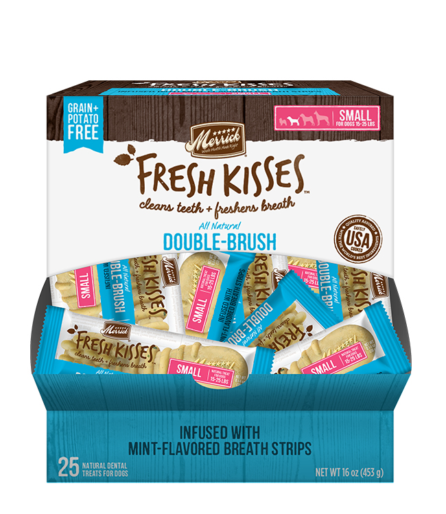 Merrick Fresh Kisses Mint Breath Strips For Small Dogs (17-30 Lbs) (25 Count)