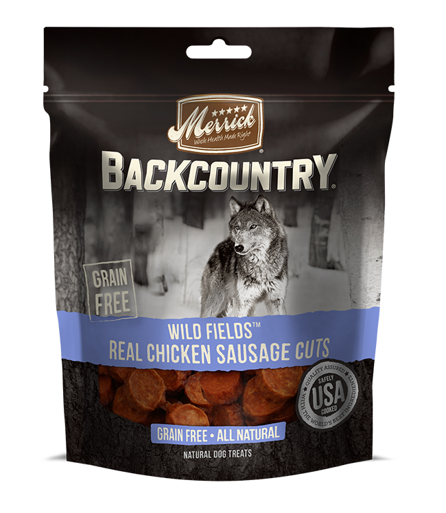 Merrick Backcountry Wild Fields Real Chicken Sausage Cuts 7OZ