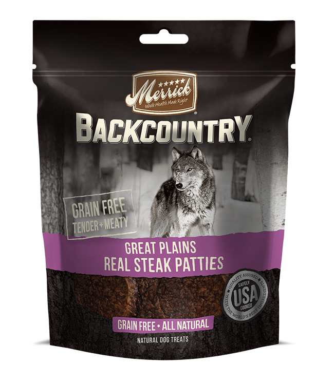 Merrick Backcountry Great Plains Real Steak Patties 4OZ