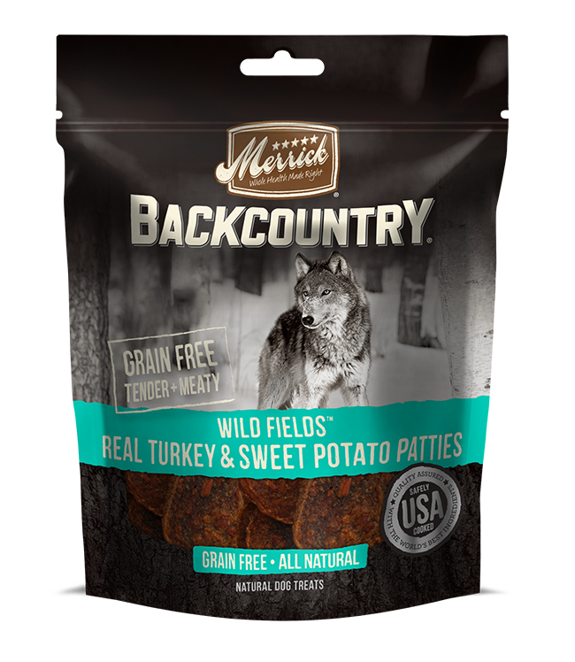 Merrick Backcountry Wild Fields Real Turkey and Sweet Potato Patties 4OZ