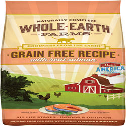 Whole Earth Farms Cat Grain Free Salmon 2.5Lb