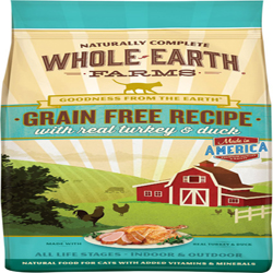 Whole Earth Farms Cat Grain Free Turkey & Duck 2.5Lb
