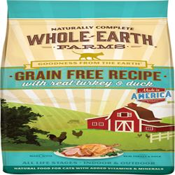 Whole Earth Farms Cat Grain Free Turkey & Duck 10Lb