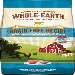 Whole Earth Farms Cat Grain Free Whitefish & Tuna 5Lb