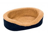 Aspen Pet Oval Lounger Plush/Suede Dog Bed Assorterd Colors 18in