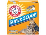 Arm & Hammer Super Scoop Clumping Unscented Litter 14lb-Case of 3