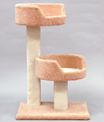 Classy Kitty Tree w/ 2 Sleep Trays 35in