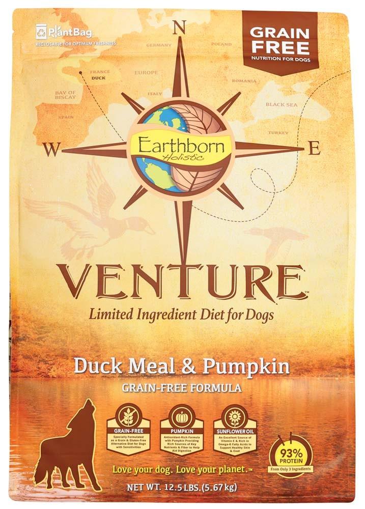 Earthborn Holistic VENTURE Grain Free Duck & Pumpkin 12 5#
