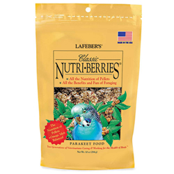 Lafeber Classic Nutri-Berries Parakeet Bird Food 10oz