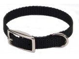 Coastal Single-Ply Nylon Collar Black 3/8X12in