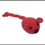 "Coastal Pet Products Rascals  Handcrafted Wool 5"" Red Mouse"