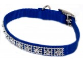Coastal Nylon Jeweled Collar Blue 3/8X12in