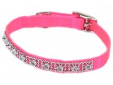 Coastal Nylon Jeweled Collar Neon Pink 3/8X12in