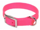 Coastal Single-Ply Nylon Collar Neon Pink 5/8X12in