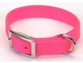 Coastal Single-Ply Nylon Collar Neon Pink 3/4X16in