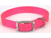 Coastal Single-Ply Nylon Collar Neon Pink 1X18in