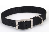 Coastal Single-Ply Nylon Collar Black 1X20in