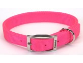 Coastal Double-Ply Nylon Collar Neon Pink 1X20in