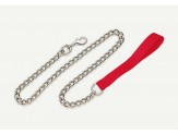 Coastal Titan Chain Leash with Nylon Handle Red Fine 4.0mm 4ft
