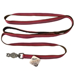 "Coastal Pet Products K9 Explorer  Reflective Leash with Scissor Snap, 5/8"" x6' Berry Red"
