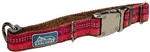 "Coastal K9 Explorer 5/8"" Adj Collar  Berry Red   (8-12"")"