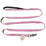 "Coastal Pet Products K9 Explorer  Reflective Leash with Scissor Snap, 5/8""x6' Rosebud Pink"