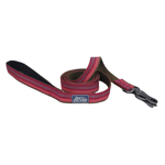 "Coastal Pet Products K9 Explorer  Reflective Leash With Scissor Snap, 1""X6' Berry Red"