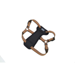"Coastal K9 Explorer 1"" Padded Harness Camp Fire Orange (20-30"")"