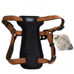 "Coastal K9 Explorer 1"" Padded Harness Camp Fire Orange  (26-38"")"